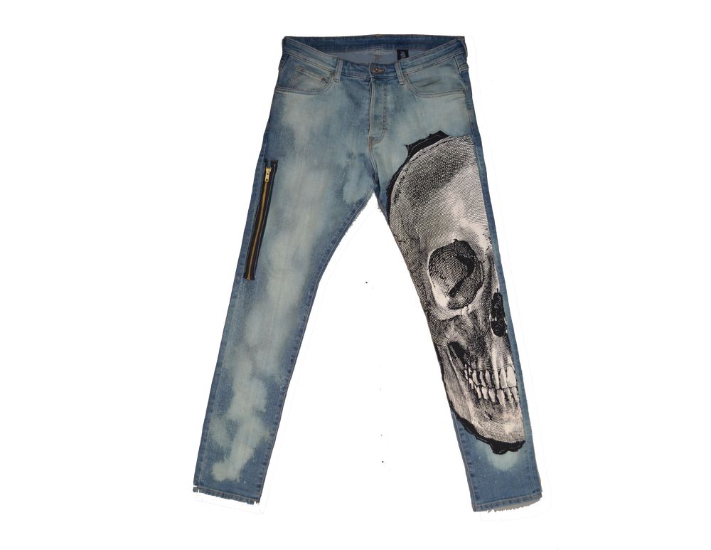 "Image of ""DEATH ABOVE"" - DENIM JEANS (SKINNY) (V1)"