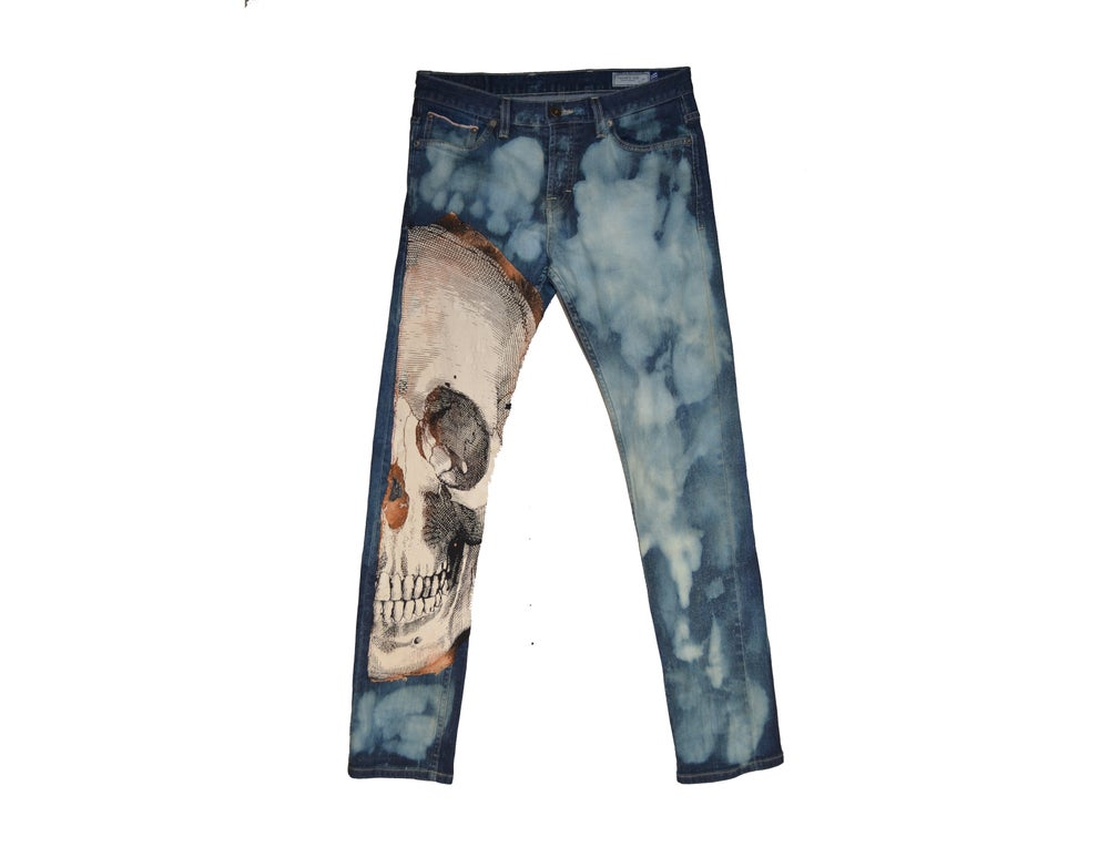 "Image of ""DEATH ABOVE"" - DENIM JEANS (SKINNY) (V2)"