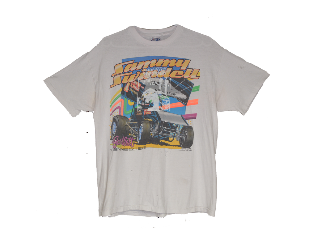 "Image of ""FIRST PLACE"" - VINTAGE RACING TEE (WHITE)"