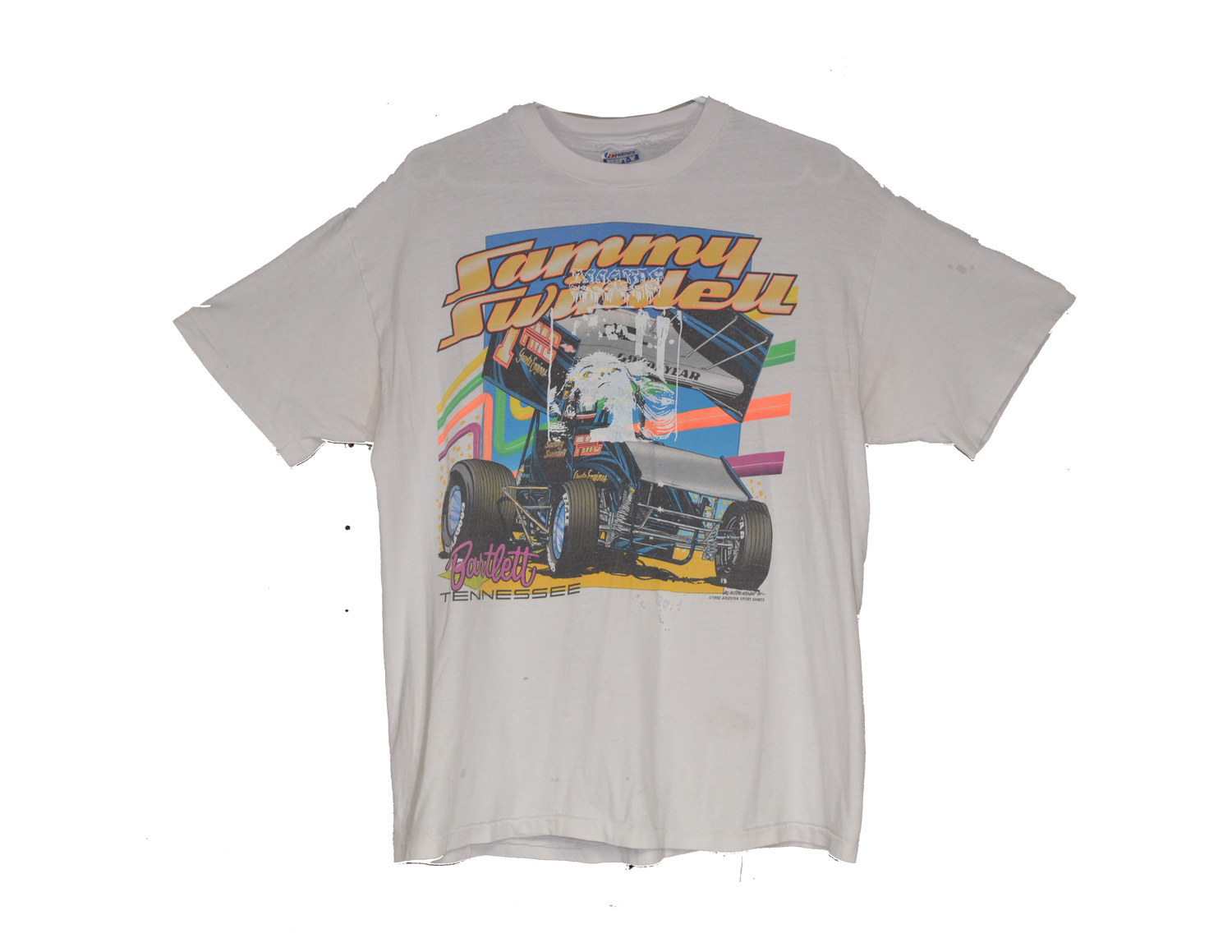 """Image of """"FIRST PLACE"""" - VINTAGE RACING TEE (WHITE)"""