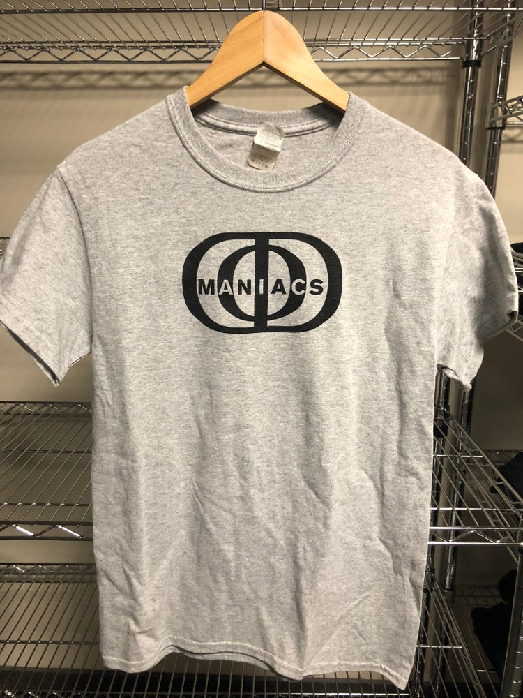 "Image of Short Sleeve T-Shirt (""Maniacs Logo"") Sport Grey"