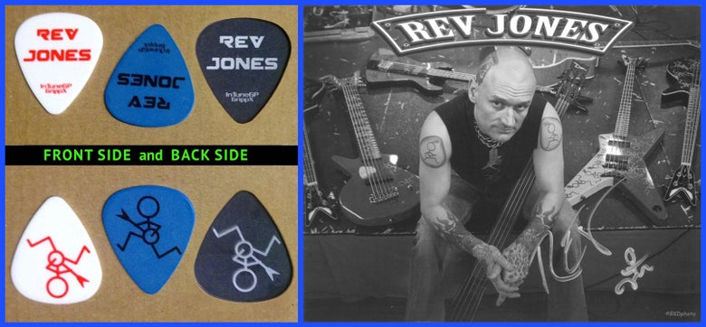 Image of Rev Jones bass picks.
