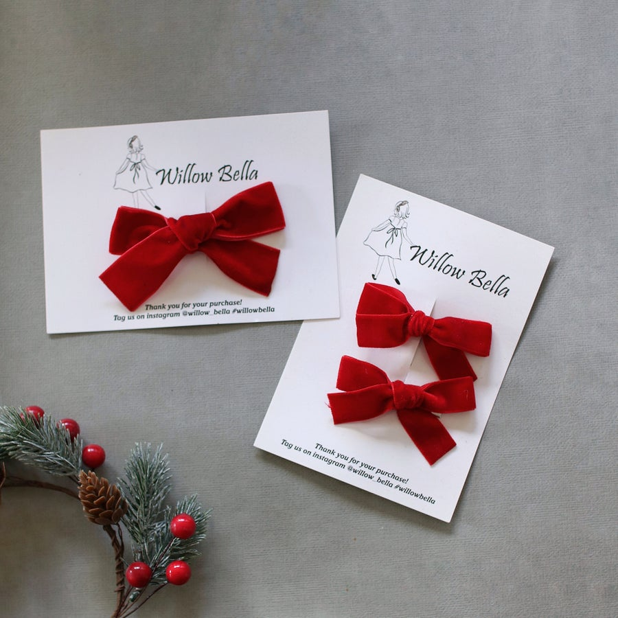 Image of Christmas velvet bows
