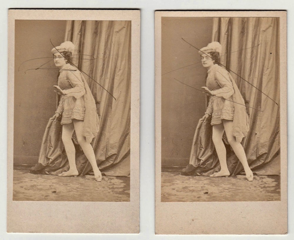 Image of Disdéri: Nelly, lot of 3 CdV two rejected prints and one approved, 1861