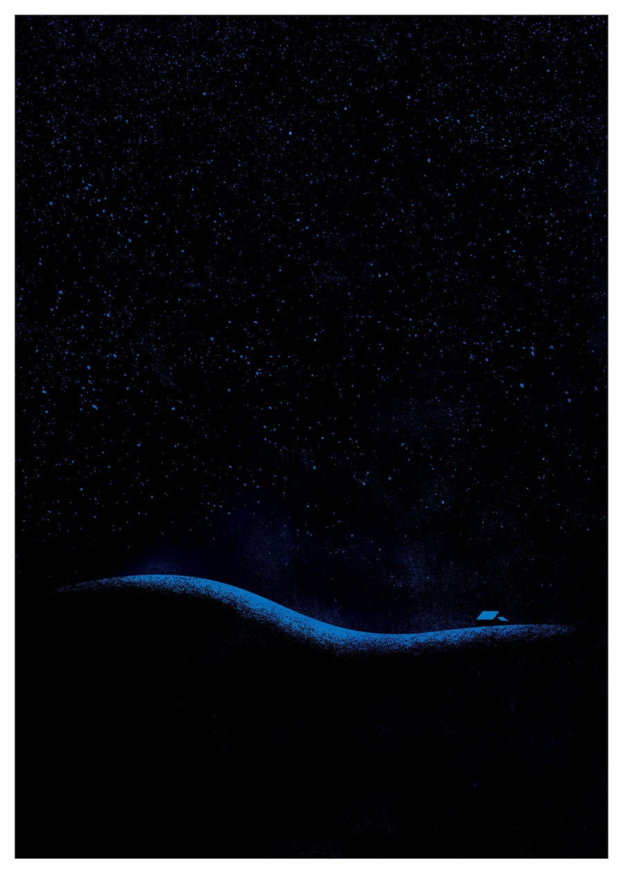 Image of Hill At Night. Limited Run A2 Screen Print