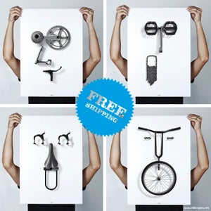 Image of Bikemoji Series - <b>GR8, OMG, LOL & WTF</b>