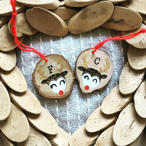 Image of Personalised Reindeer Decorations