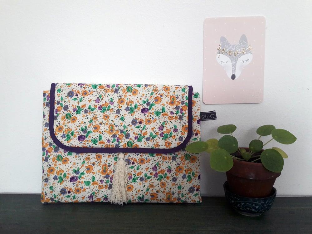 Image of Pochette Léonie - petites fleurs