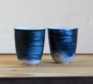 Image of Isabelle René - Gobelets Porcelaine / Bleu
