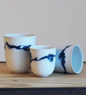 Image of Gobelets Porcelaine - Trait / Isabelle René