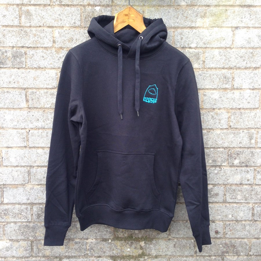 Image of Ecosie McSharky Embroidered Organic Cotton Hoodie