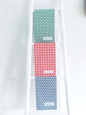 Image of Cotton Tea Towels - Set of 3 (Red, Blue and Green)
