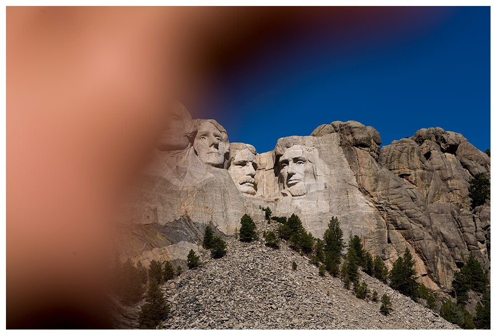 Image of Mt. Rushmore from the series Sightseeing