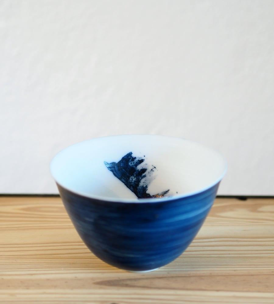 Image of Isabelle René - Bol Porcelaine / Bleu