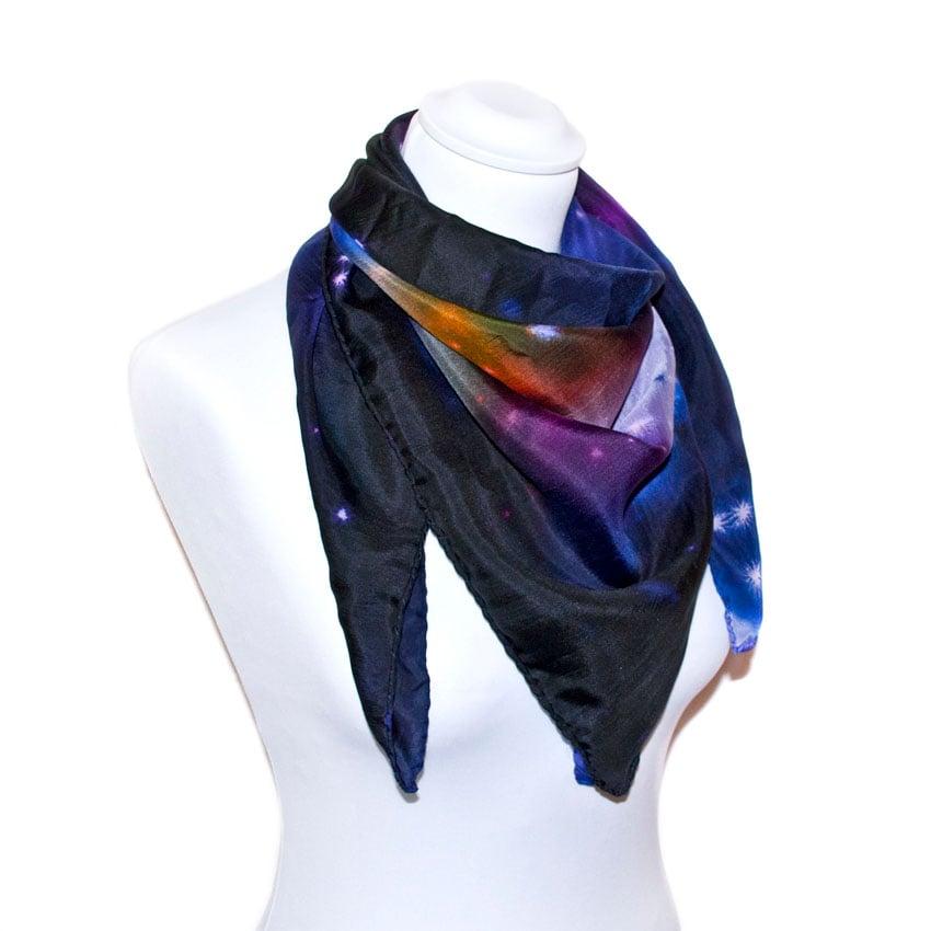 Image of Galaxy silk scarf