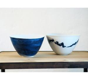 Image of Isabelle René - Saladiers / Bleu ou Trait