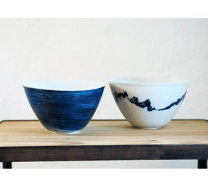 Image of Saladiers - Bleu/Trait