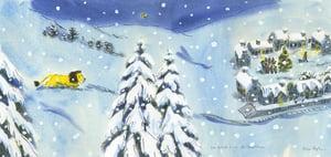 Image of How to Hide a Lion at Christmas original signed artwork