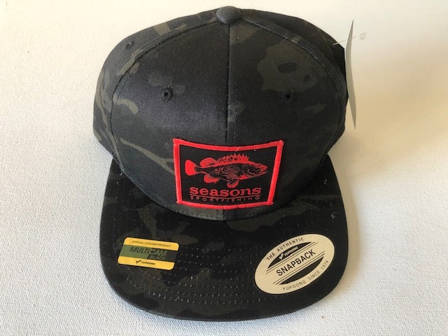 Image of SEASONS - BLACK MULTI CAM SNAPBACK - ROCK COD