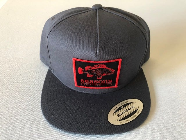 Image of SEASONS - GRAY / GRAY SNAPBACK - ROCK COD