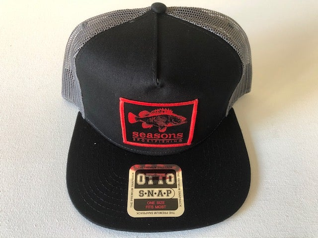 Image of SEASONS - BLACK / GRAY MESH SNAP BACK - ROCK COD