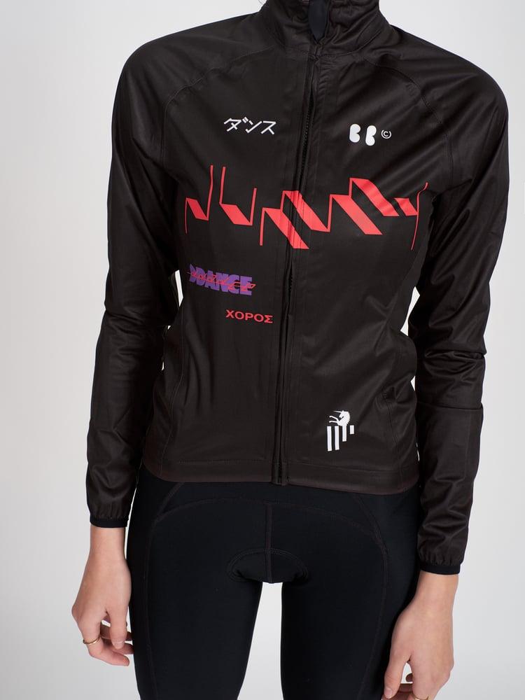 Image of DUMMY + BBUC DDANCE Cycling Rain Jacket (Black)