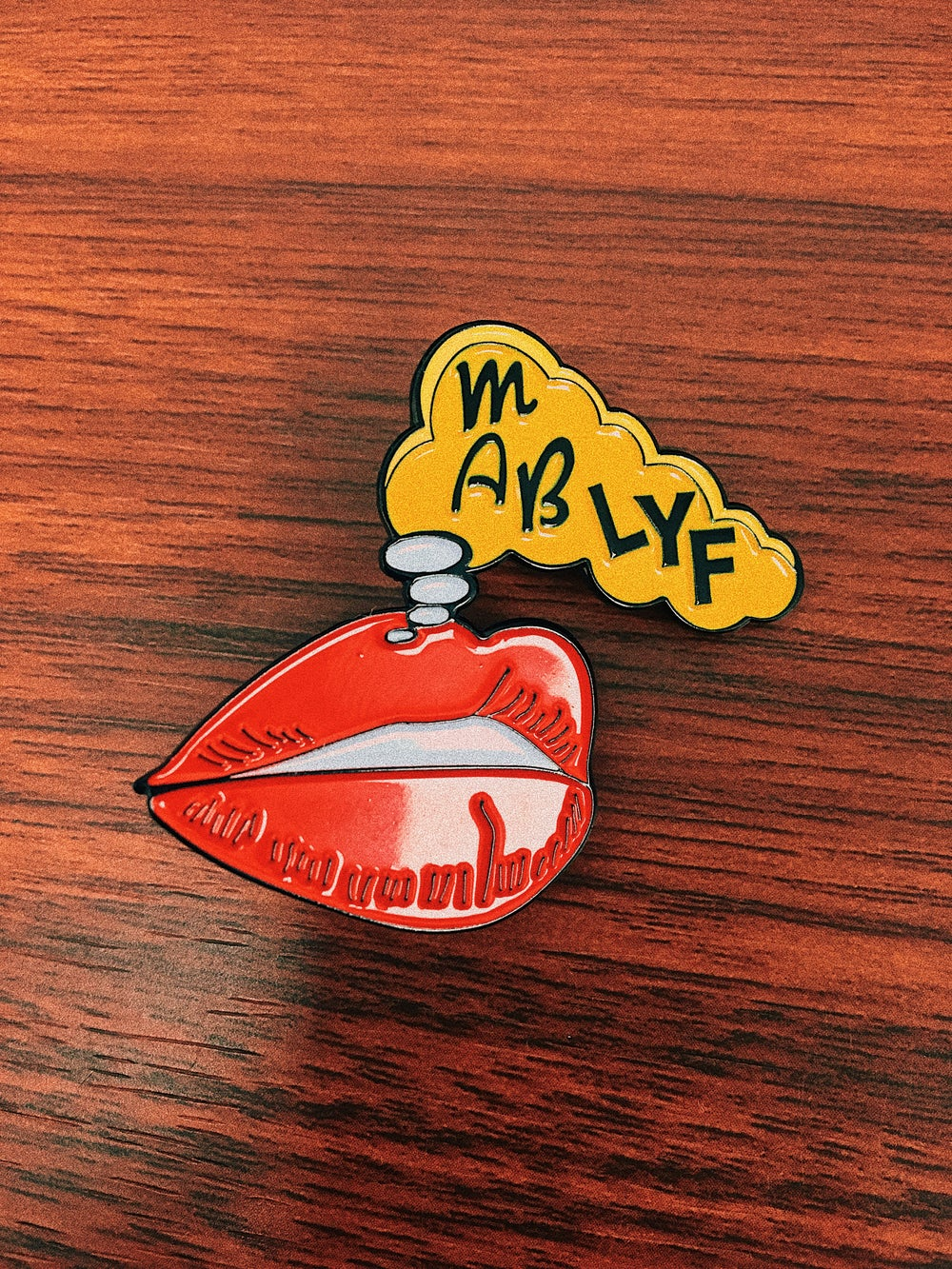 Image of RED LIPZ Enamel Pin