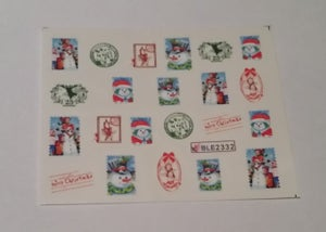 Image of CHRISTMAS Water Decals Various Designs