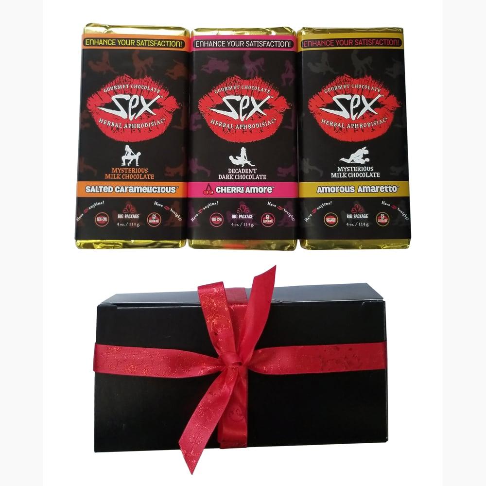 Image of Gourmet Aphrodisiac Chocolate - Gift Set of 3 Bars, 12 oz