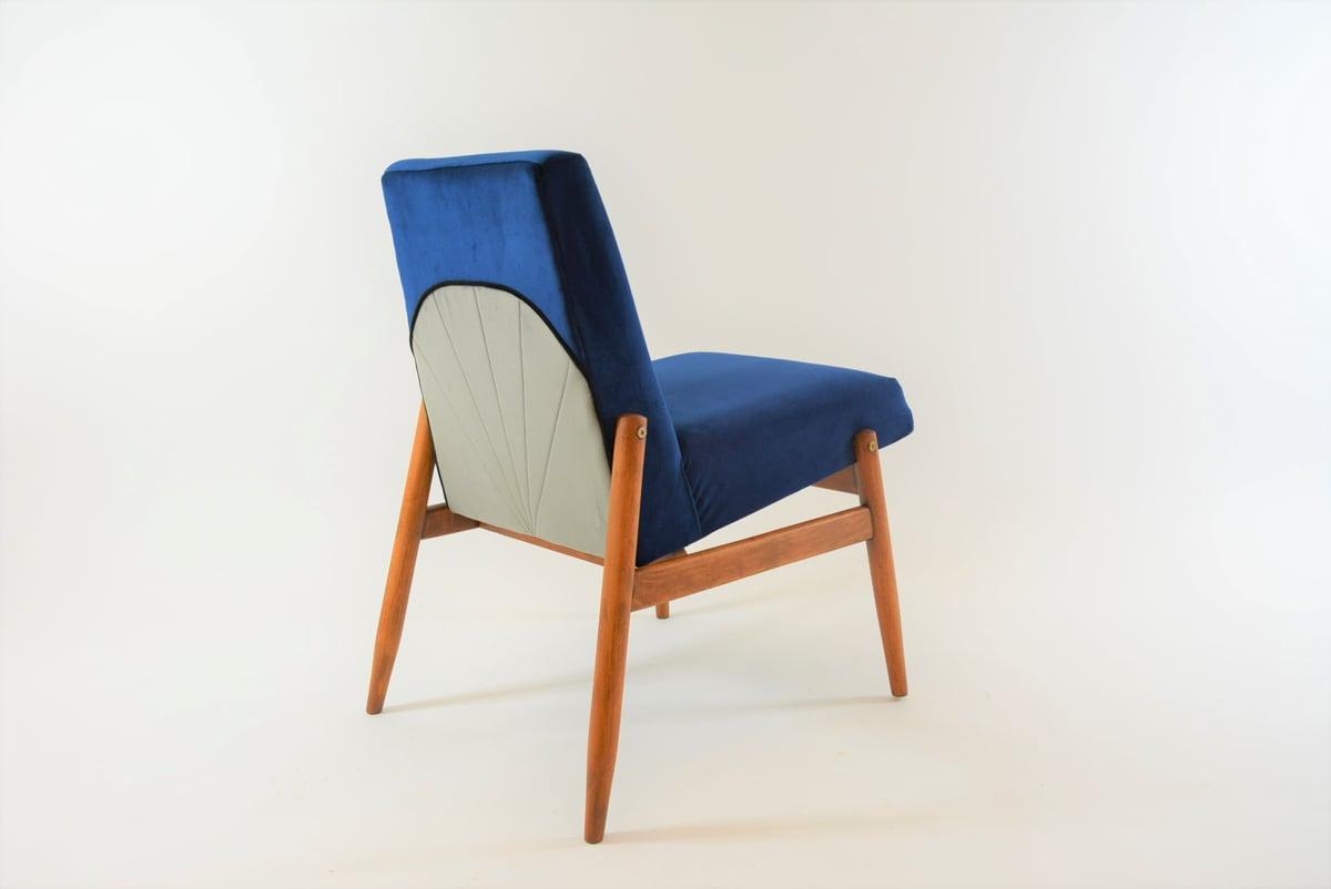 Image of Fauteuil Art Deco bleu
