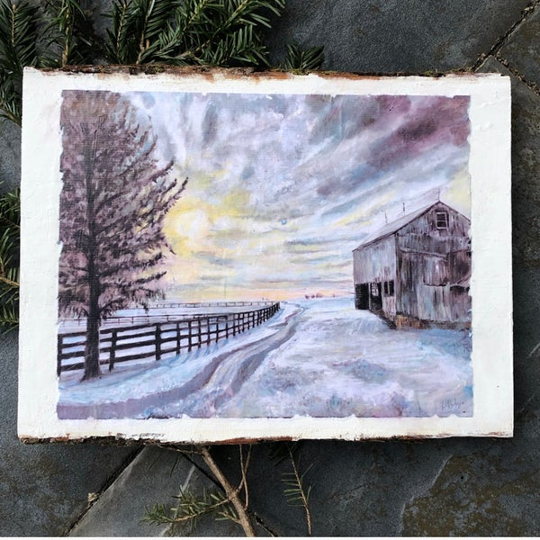 Image of PATH OF NEW BEGINNINGS, PRINT ON WOOD