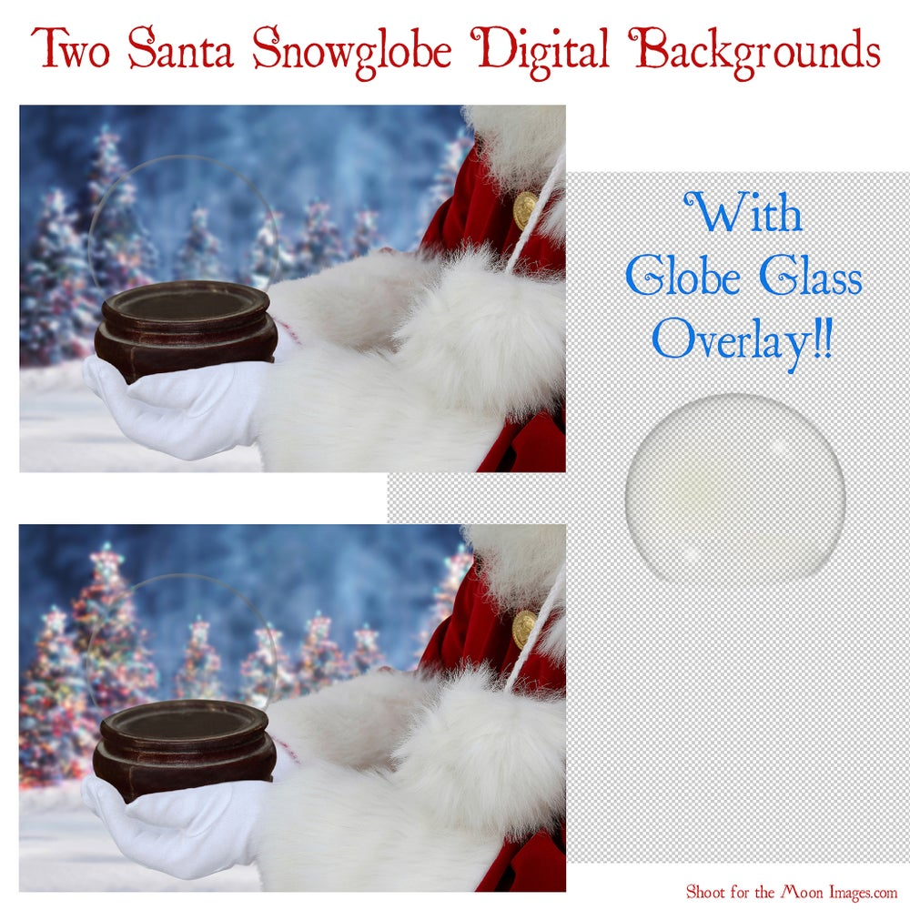Image of Santa Snowglobe Digital Backgrounds