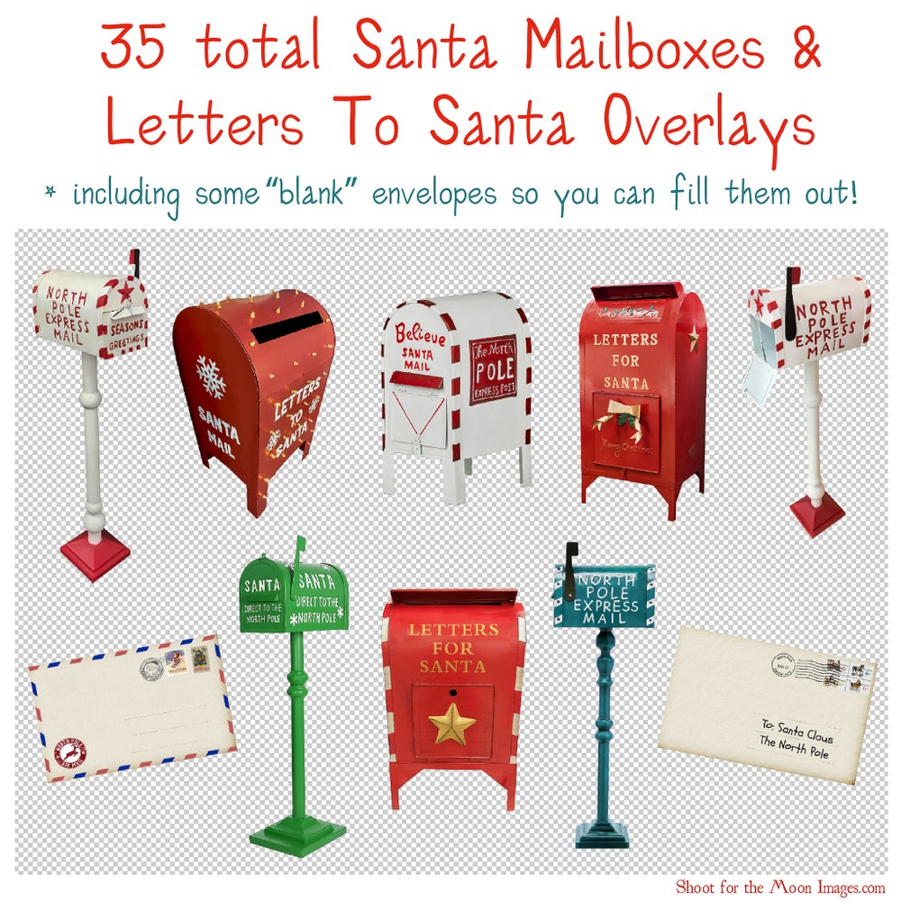 Image of Santa Mailboxes & Letters To Santa Overlays