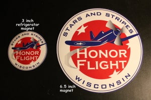 Image of Stars and Stripes Honor Flight Logo Magnets