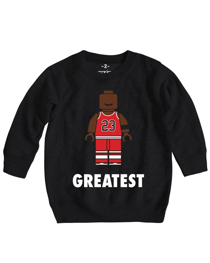 Image of GREATEST MIKE CREWNECK SWEATER BLACK