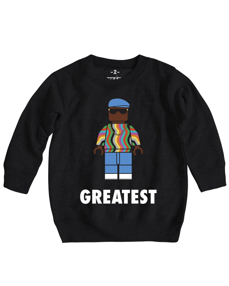 Image of GREATEST BIG CREWNECK SWEATER BLACK