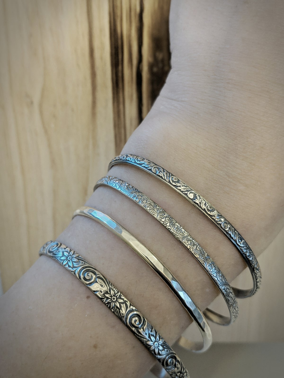 Image of Sterling Silver Stacker Bracelets