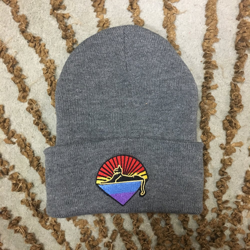 Image of Cats Embroidered Knit Caps!