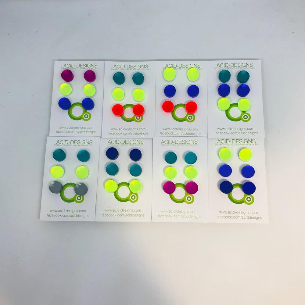 Image of Set náušnic Circle 3páry