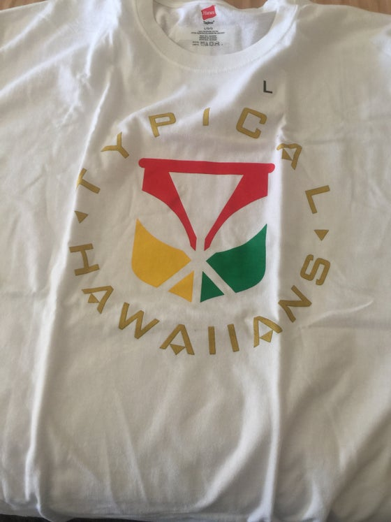 Image of Typical Hawaiians Kanaka Maoli with Kahili White T-Shirt