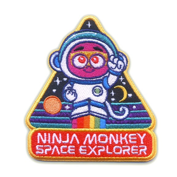 Image of Ninja Monkey Space Explorer Iron-On Patch