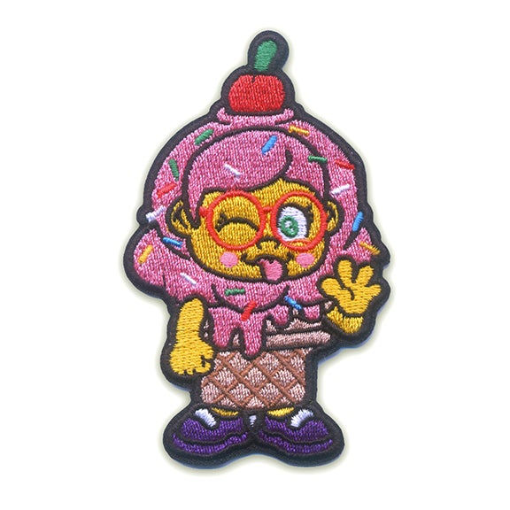 Image of Ice Cream Girl Iron-On Patch