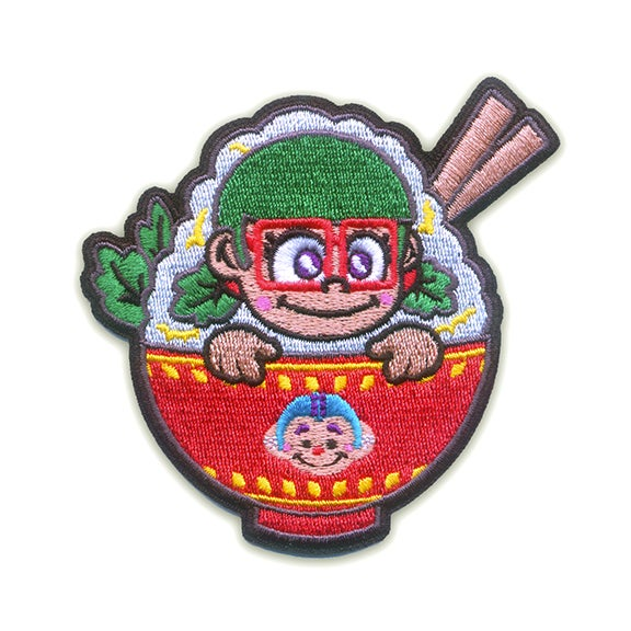 Image of Rice Bowl Girl Iron-On Patch