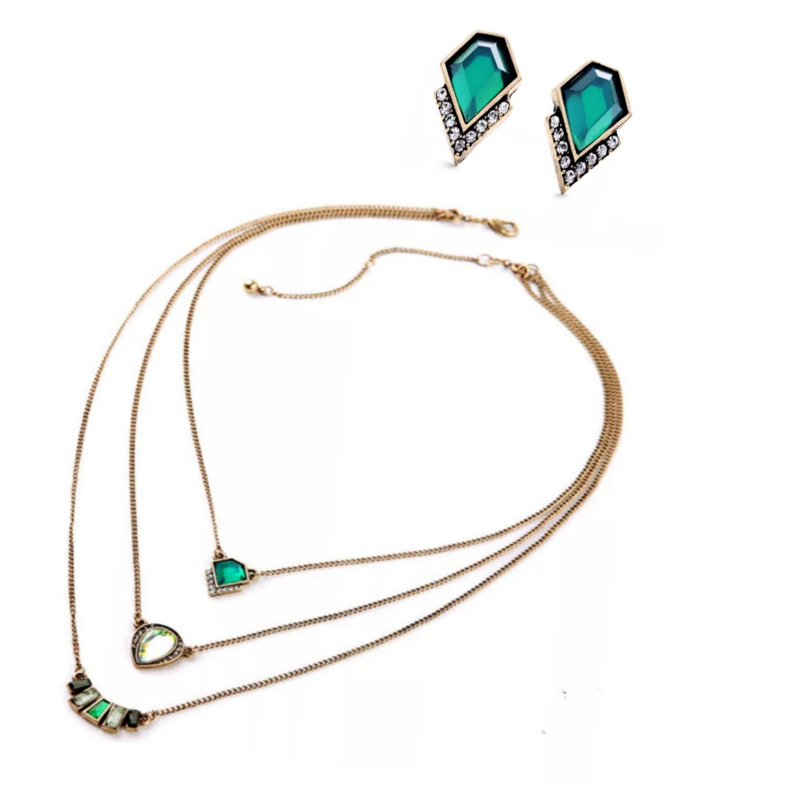 Image of Poison Ivy Necklace & Earring Set