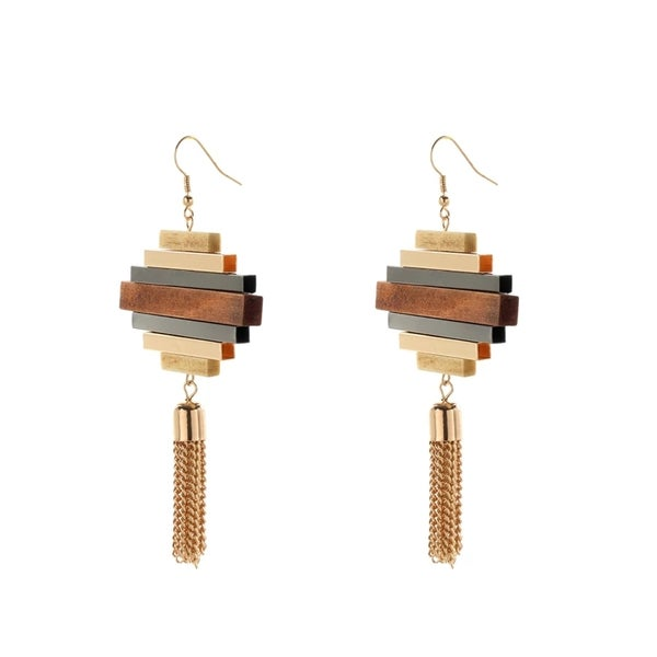 Image of Twisted Tassel Earring