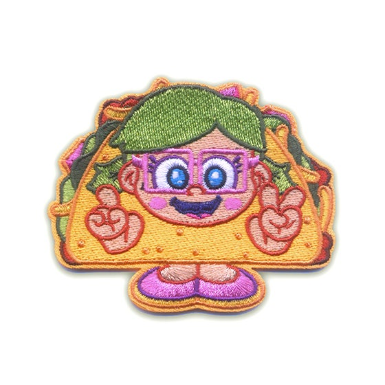 Image of Taco Girl Iron-On Patch