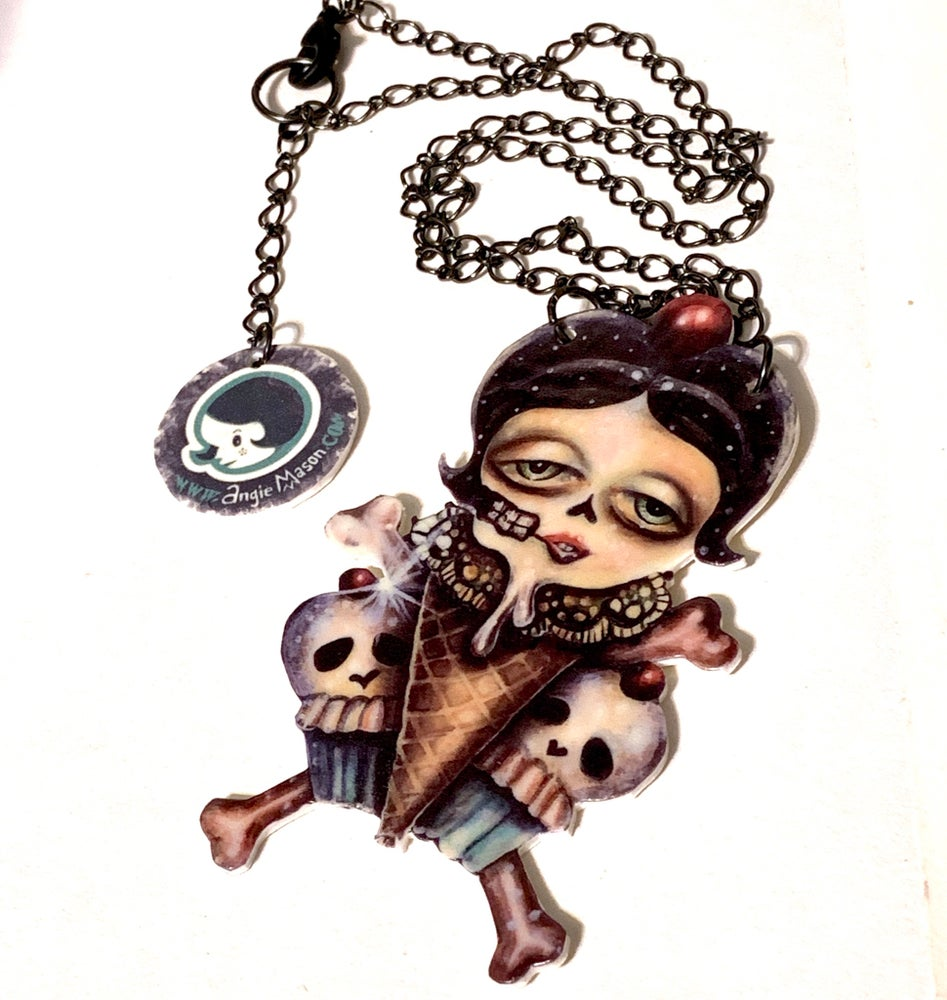 Image of The Sweet Defeat - Shrink film necklace