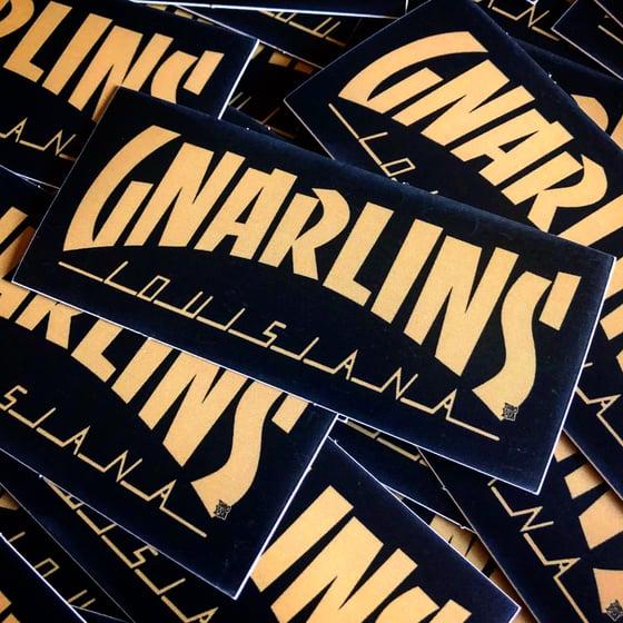 Image of GNARLINS, LOUISIANA (Black and Gold) Sticker by TimboYaYa!