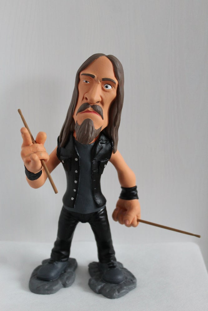 Image of Dirk Verbeuren Hand Painted Collectible Figurine