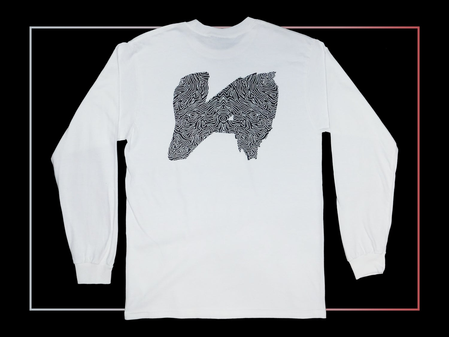 Image of White Fingerprint Longsleeve